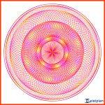 Lebensblumen-Torus Mehrfarbig