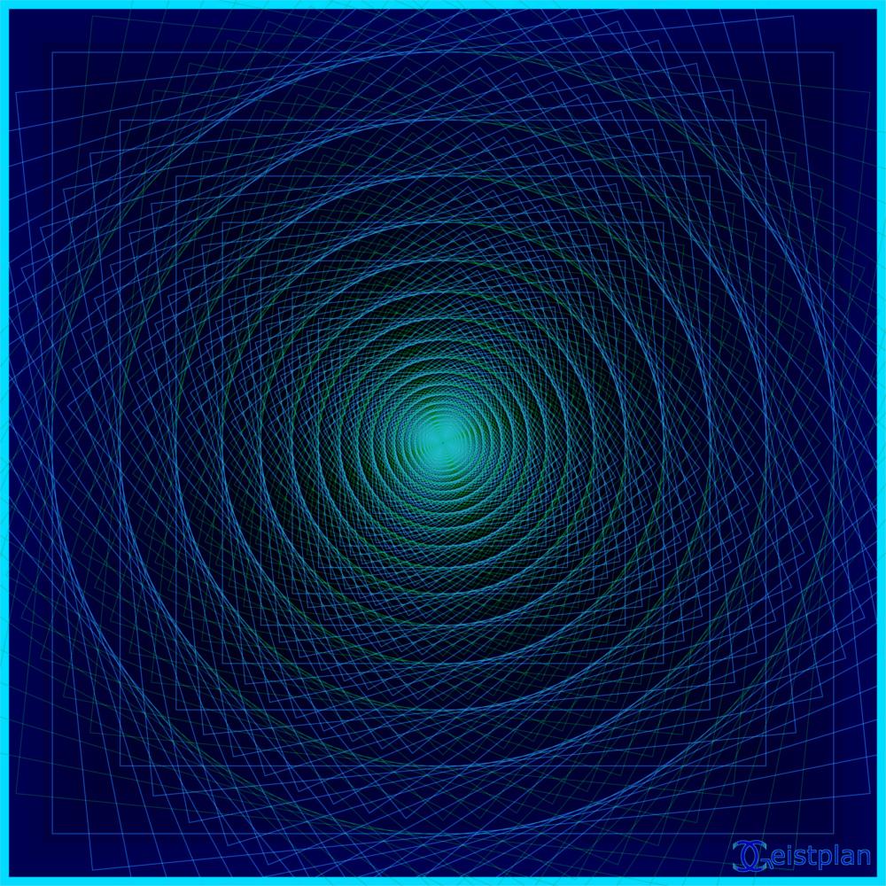 In die Toefe gehend black background koplexr Tunnel als psychodelisches Mandala