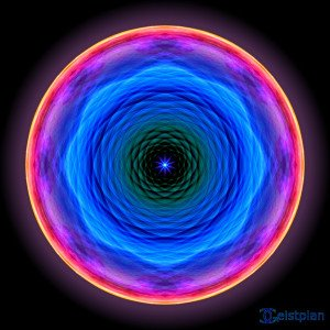 "Mandala 3D Wirkende Scheibe als Energiebild Download der Energiebilder Spanntuch (""Mandala der Barmherzigkeit"")"