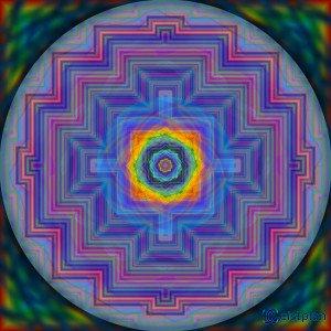 "Mandala von Geistplan (""Mandala der Buntfraktale"")"