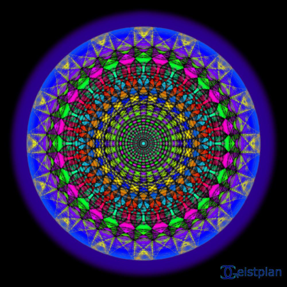 """Mandala von Geistplan (""""Mandala der Glückseligkeit"""")"""