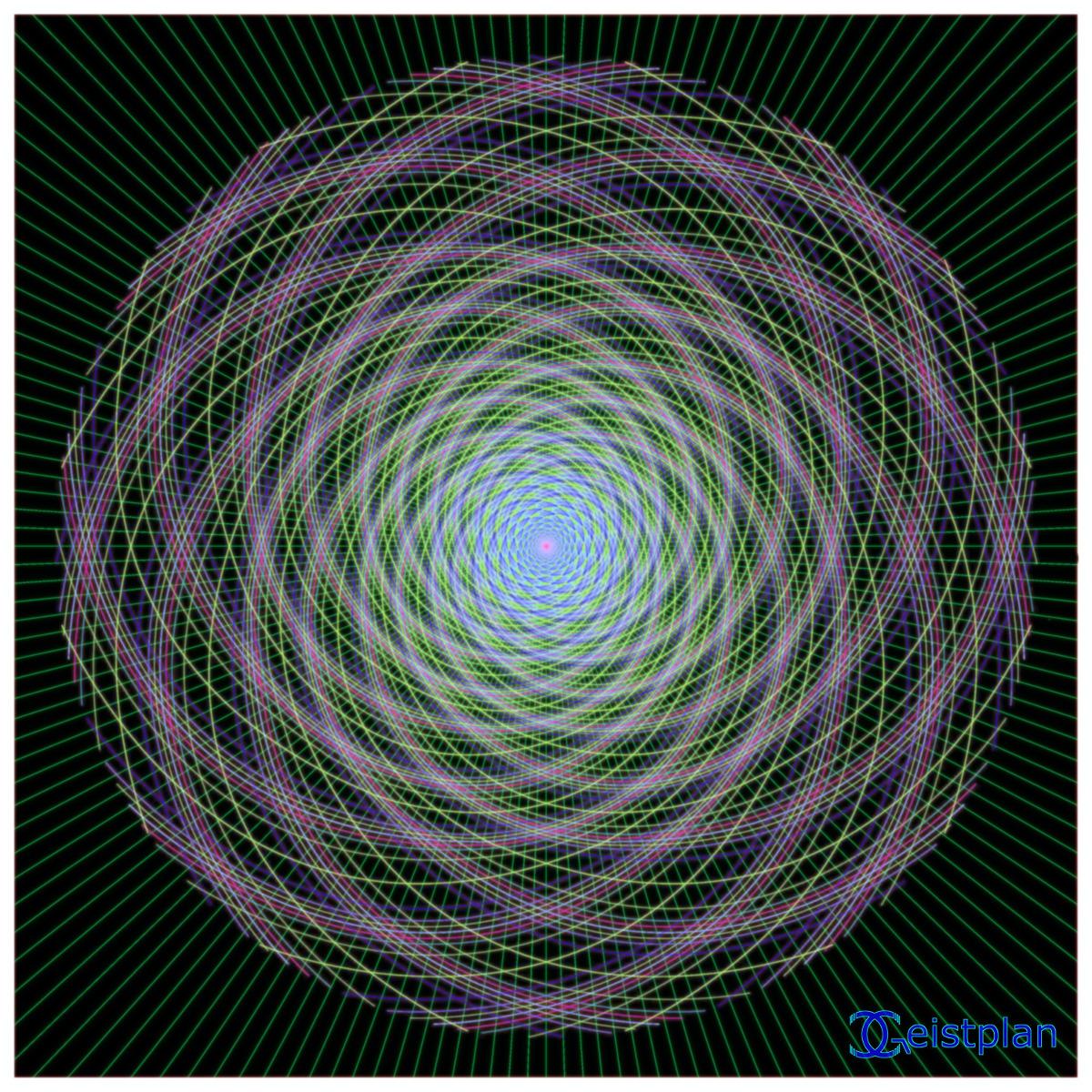 "Mandala von Geistplan (""Fibonacci-Tunnel"")"