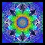 "Mandala ""der Interferenzstern"""