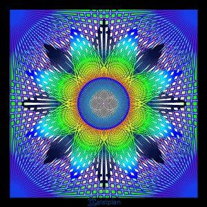 "Mandala von Geistplan (""Mandala Interferenzstern"")"