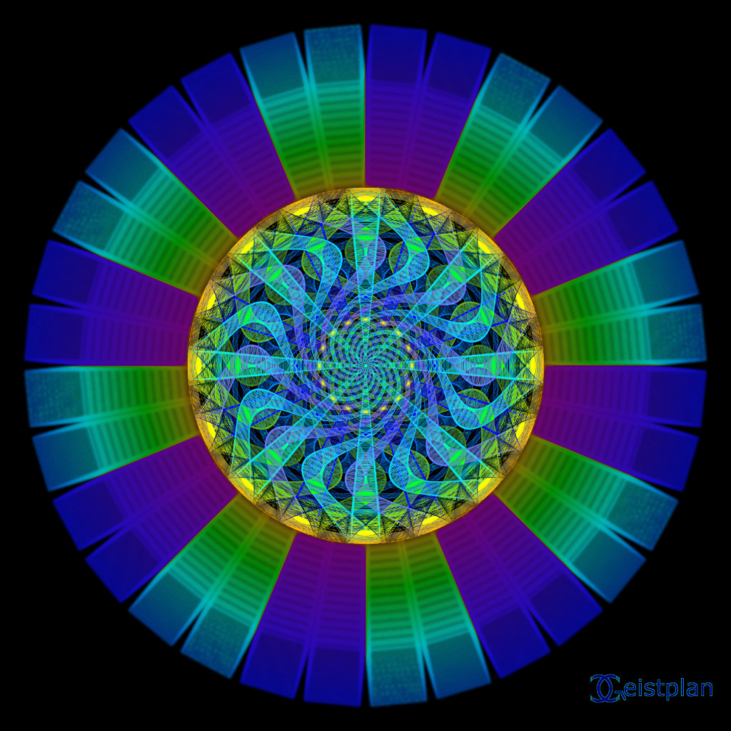 "Mandala von Geistplan (""Lebensfluss"")"