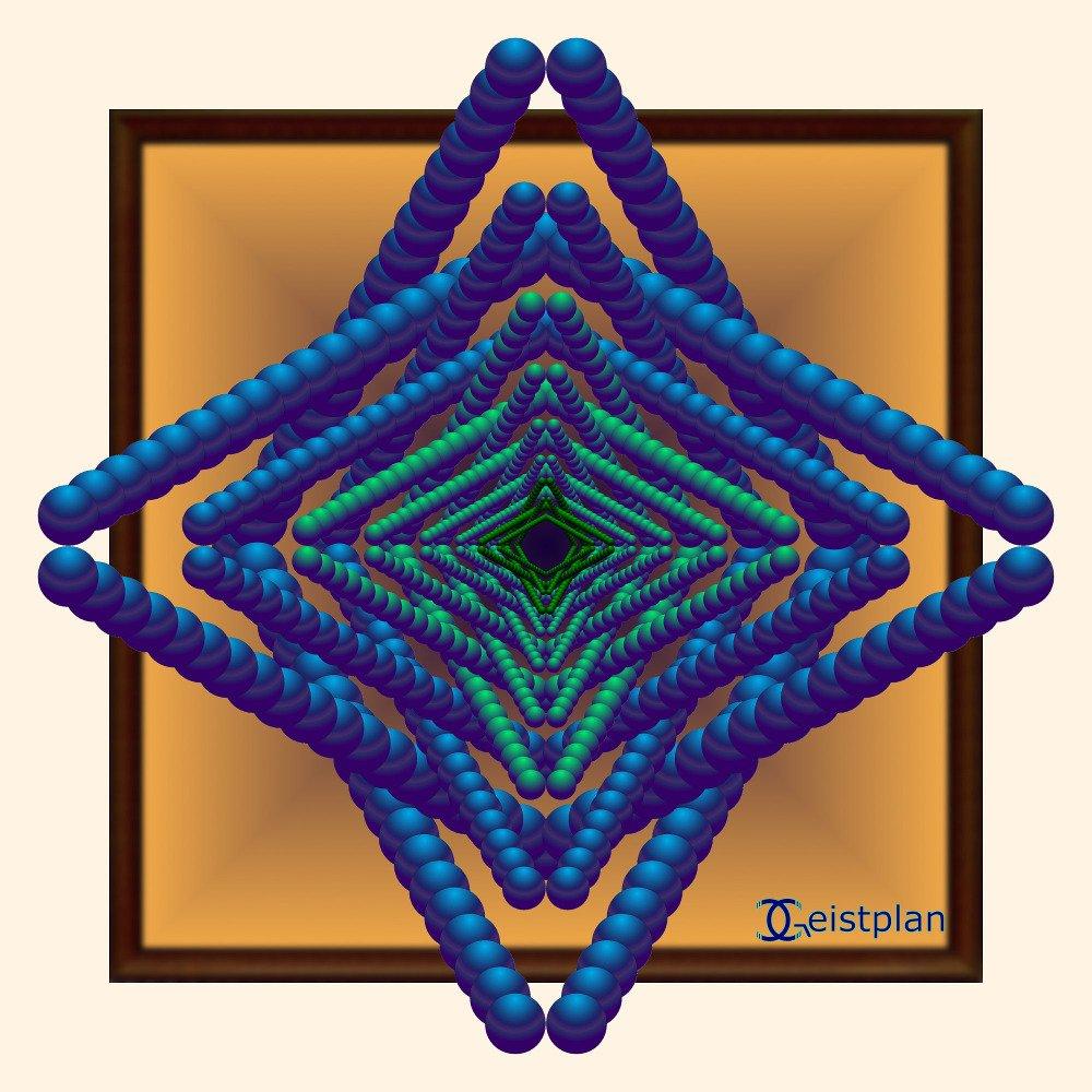 """Mandala von Geistplan (""""Mandala der Raumillusion2)"""
