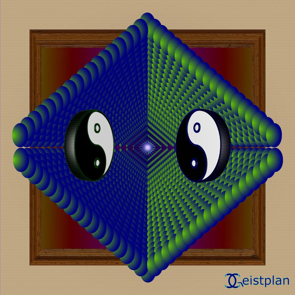 """Mandala Gesitplan (""""Mandala Yin-Yang"""")"""