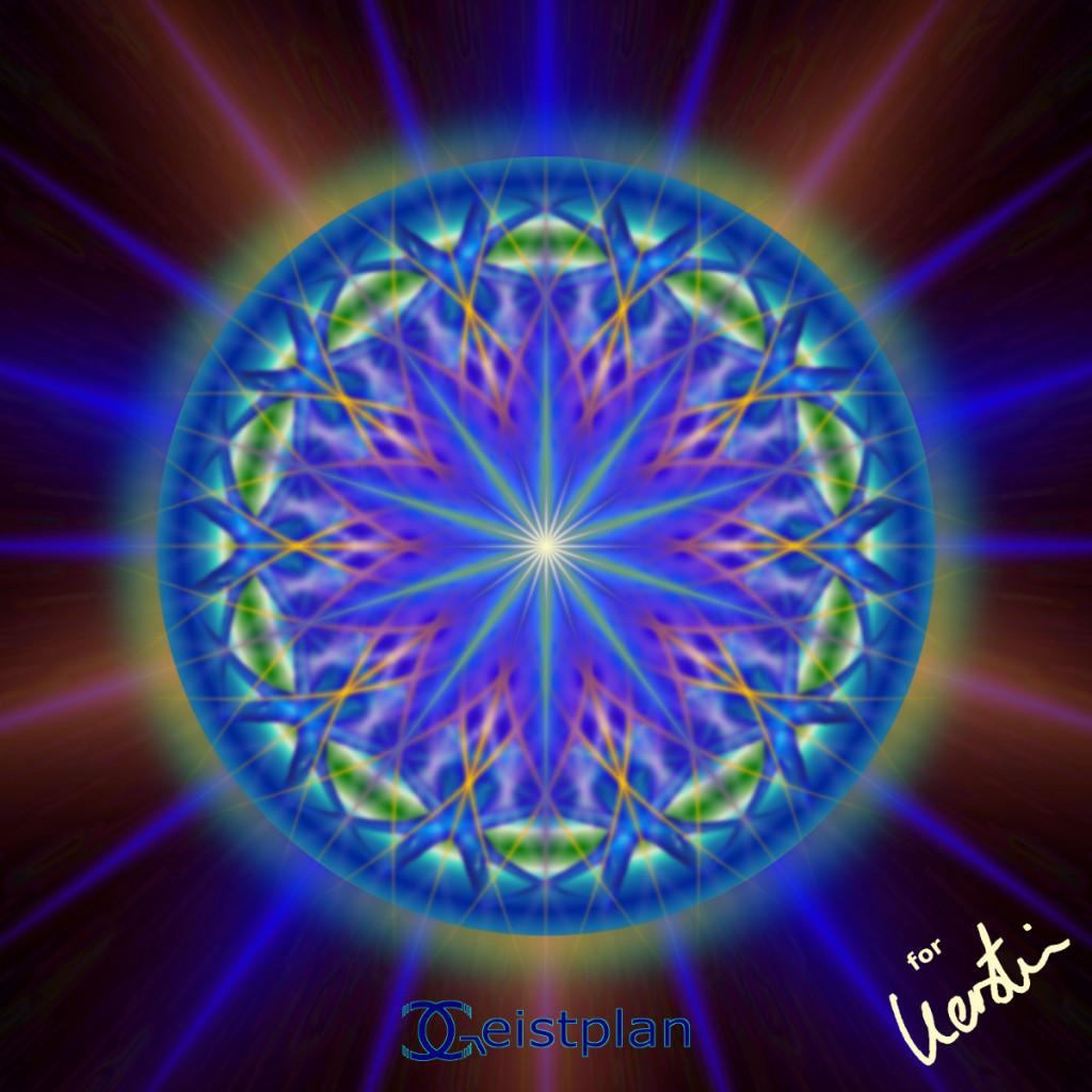 """Mandala von Geistplan (""""Stern für Kerstin"""")"""