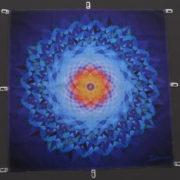 Mandala auf einem Spanntuch