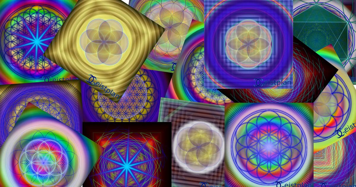 Mandala Collage erzeugte Mandalas vom Zufallsmandalaspiel