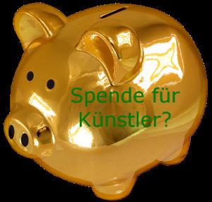 Spendensparschwein für Künstler