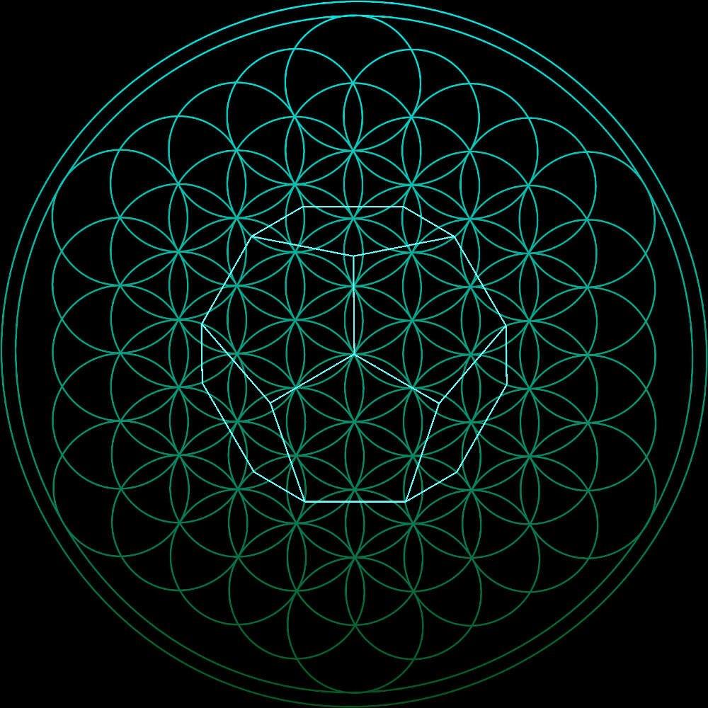 die platonische Körper in der Blume des Lebens der Dodekaeder