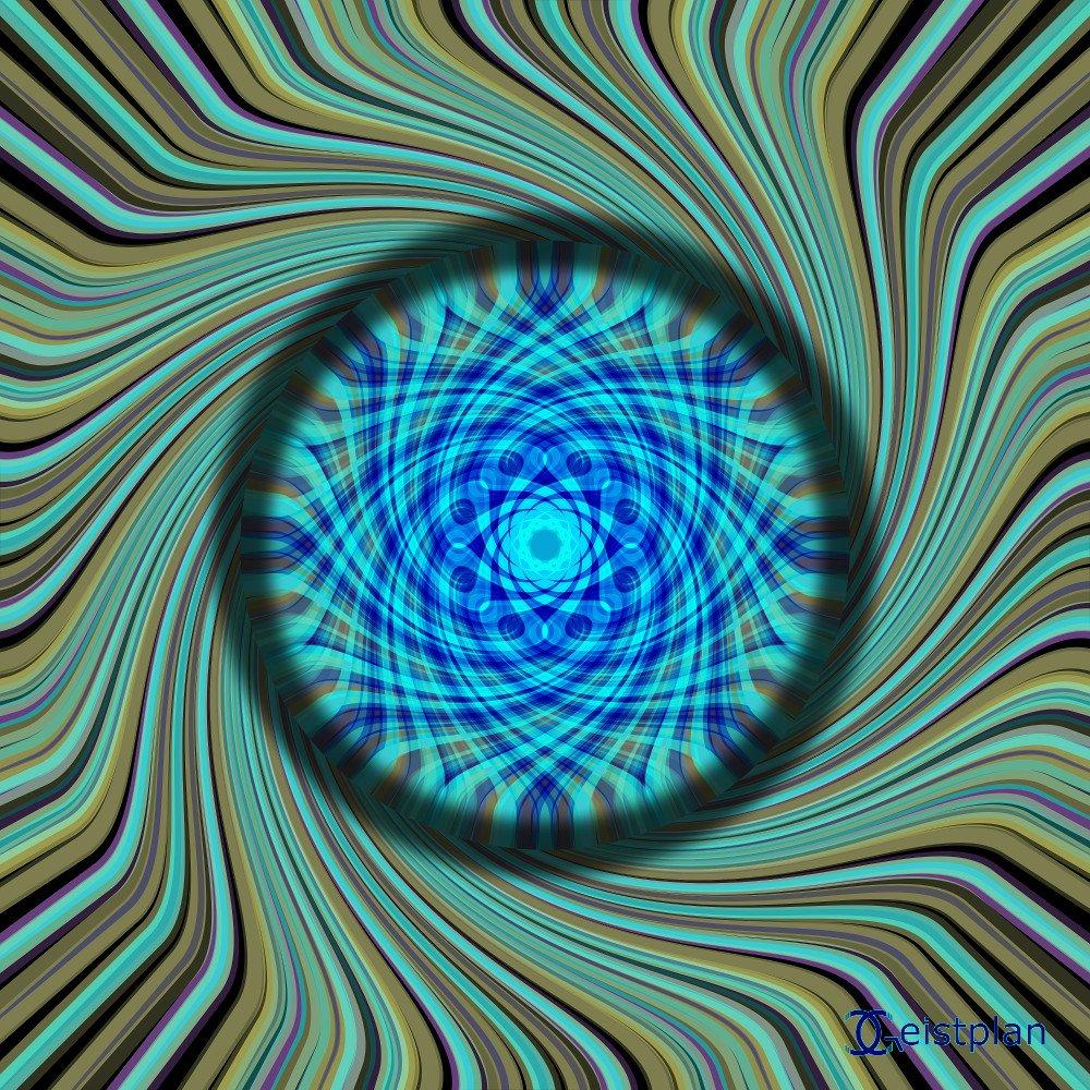 3D Wirkende Scheibe als Energiebild oder Mandala Download der Energiebilder. Ein recht psychodelisches Mandala