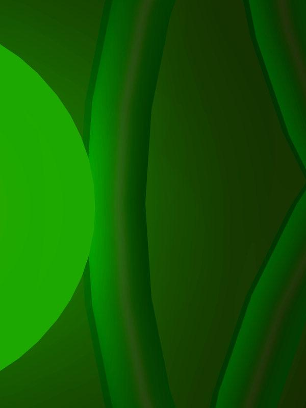 Bild von einer gruen leuchtendenden Kugel