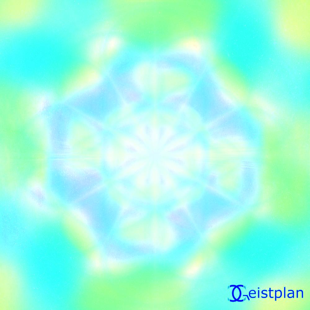 Wozu Energiebilder Beispielbild mit dem Energiebild der Hoffnung, 6 Strahligerstern in einer Kosmoswolke