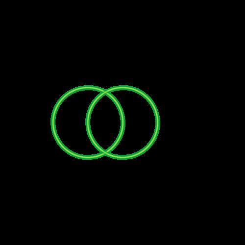 Bild 2. grüner Kreis Anleitung: Blume des Lebens zeichnen