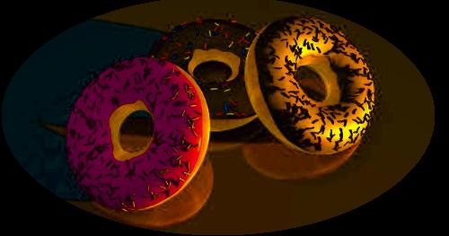 Donuts Süßgepäck als Torus