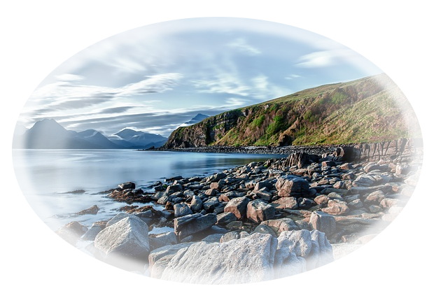 Bild mit Strand und Steinen