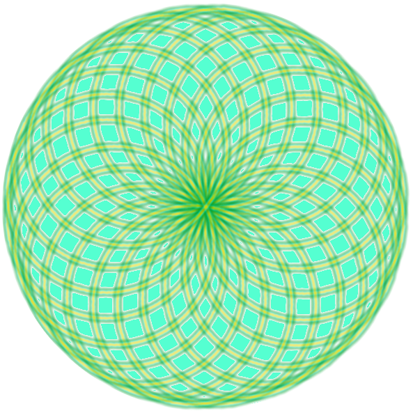 Bild von einem Torus (Donutform), bei dem die Flächen eingefärbt wurden.
