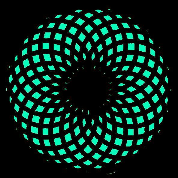 Bild von einem symetrischen Muster (Torus - Flächen). heilige Geometrie Formen in der Natur - der Torus