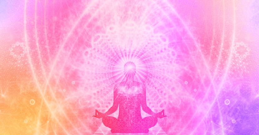 Was ist Energie, Meditations Mensch mit Mandala