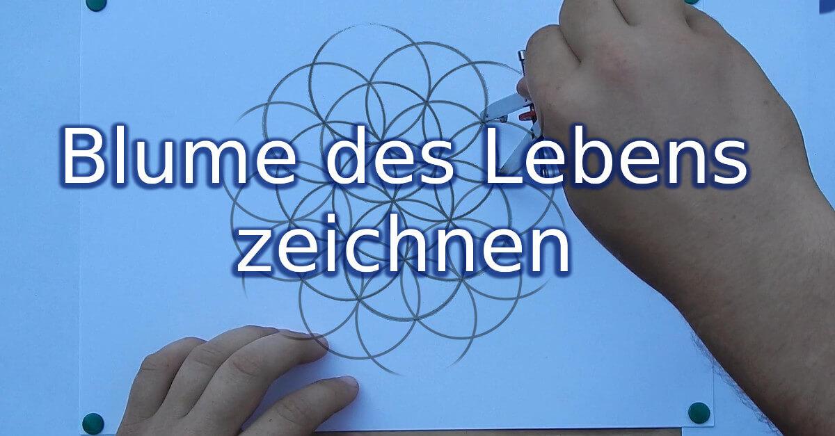 Anleitung: eine Blume des Lebens zeichnen Zirkelmuster Zirkelblume Kreismuster Lebensblume Ringmuster