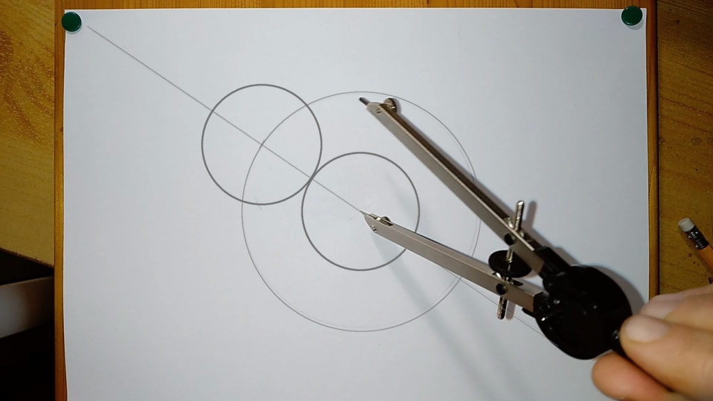 6cm Kreis in der Mitte aufziehen
