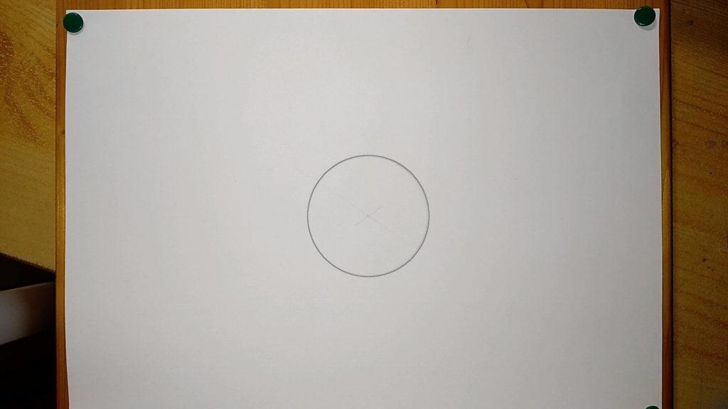 Kreis in der Mitte eines Papieres