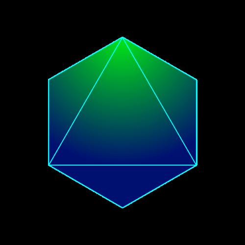 der platonische Körper das Oktaeder