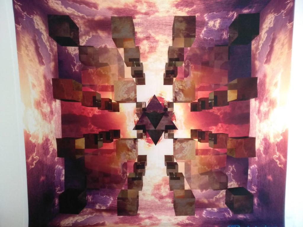 Bild zeigt Wandbehang Mandala vom Mandala die Hallen von Amenti, ein Mandala Wandtuch