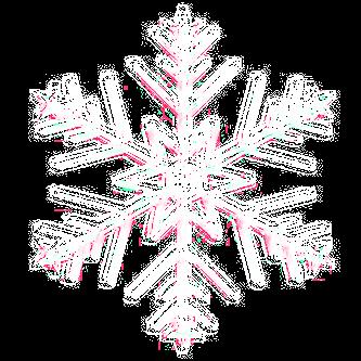 Eine Schneeflocke in Nahaufnahmen