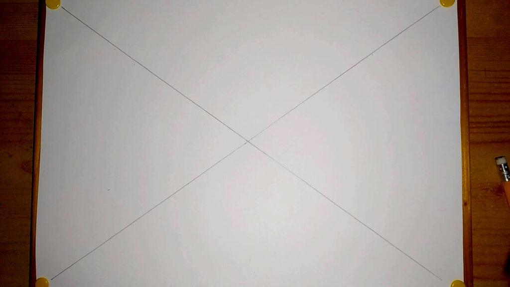 Zwei digionale Linien auf einer DIN A4 Seite