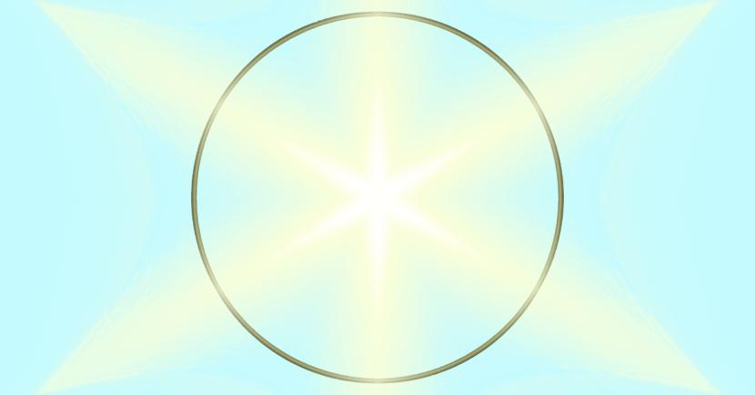 Kreis mit Stern Anleitung: einen Kreismittelpunkt finden