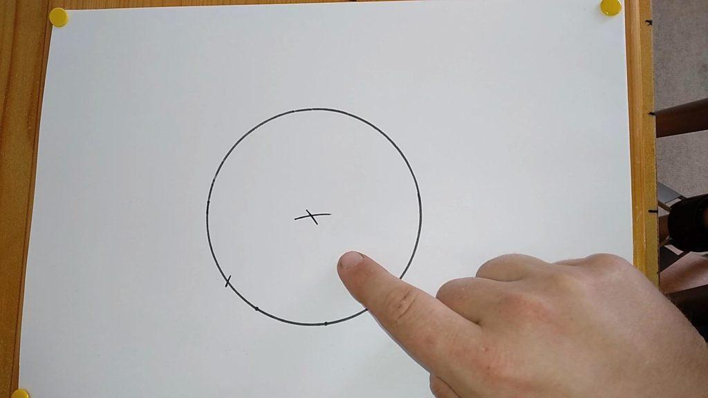 Bild von einem gezeichneten Kreis mit Mittelpunkt