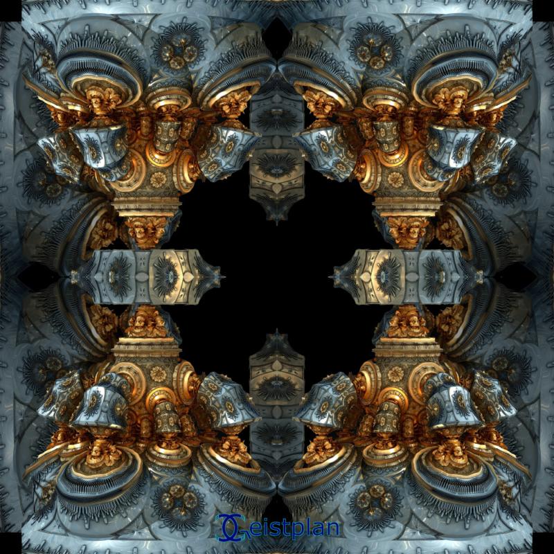 Bild von fraktalen Grafiken der Stilrichtung Steampunk