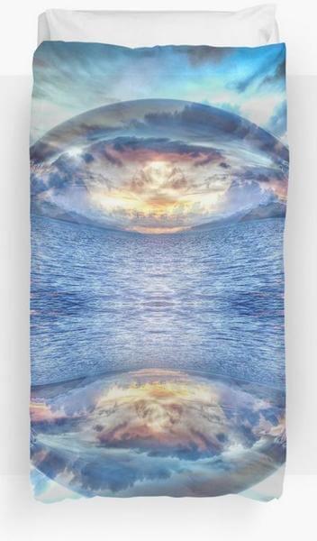 """Bild von einem Bettueberzug mit dem Motiv """"Mandala die Perle des Ozeans"""" als Aufdruck"""