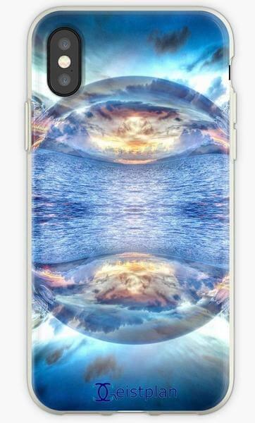 """Bild von einer Handyhuelle mit dem Motiv """"Mandala Perle des Ozeans"""""""