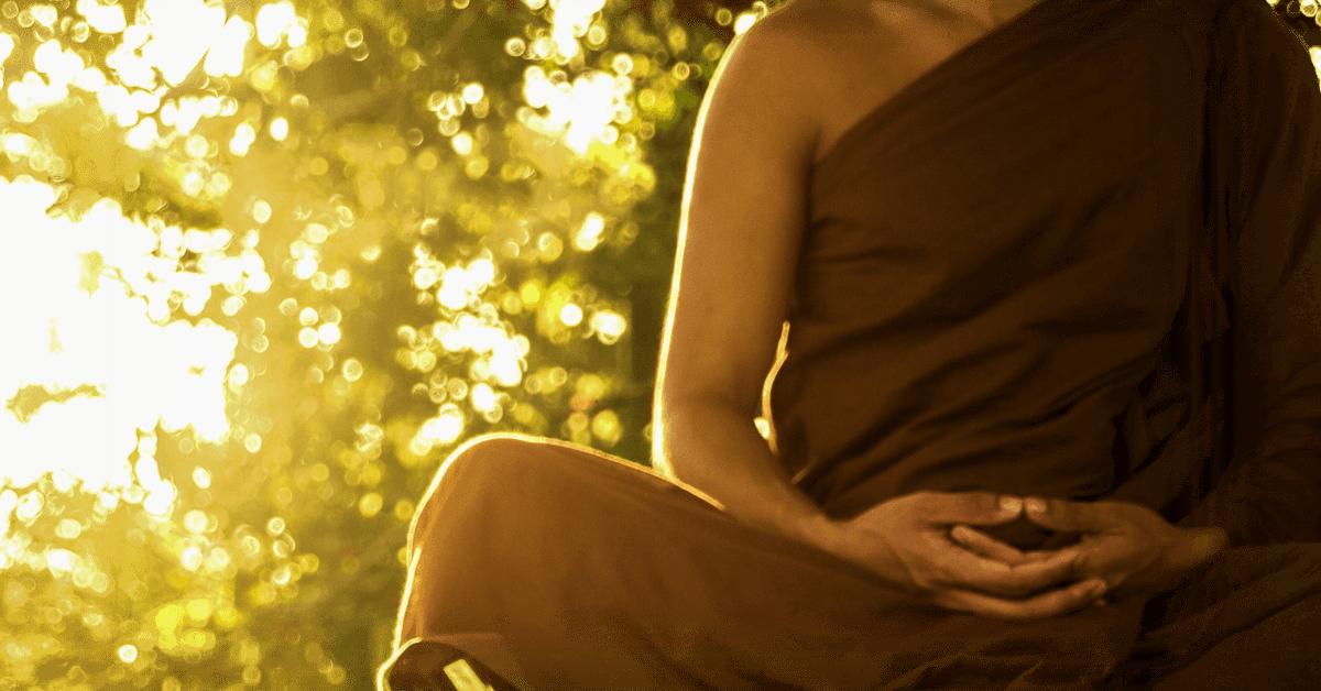 Bild von einem Meditierenden