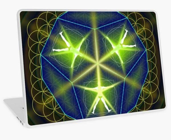 """Bild von einem Laptop mit einer Folie mit dem Motiv """"Mensch als geistiges Wesen"""""""