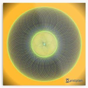 """Bild von einem Metallbild mit dem Motiv """"Mandala der Aufmerksamkeit"""" (Torus)"""