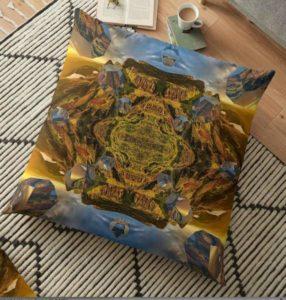 """Bild von einem Kissen mit dem """"Mandala der Weite"""" als Aufdruck"""