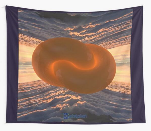 """Bild vom Mandala """"unendliche Einheit"""" als Wandbehang"""