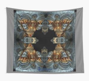 Das Steampunk Mandala als Wandbehang