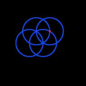 Anleitung: Blume des Lebens zeichnen Kreis 4
