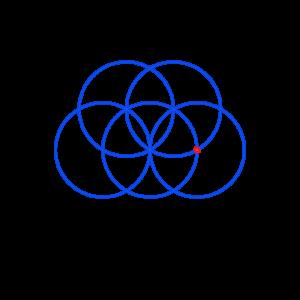 Anleitung: Blume des Lebens zeichnen Kreis 5