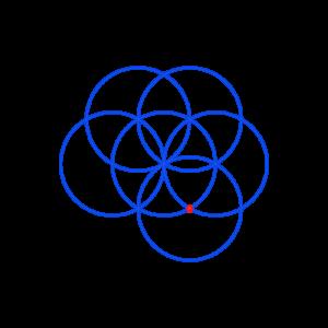 Anleitung: Blume des Lebens zeichnen Kreis 6