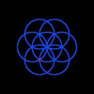 Anleitung: Blume des Lebens zeichnen Kreis 7