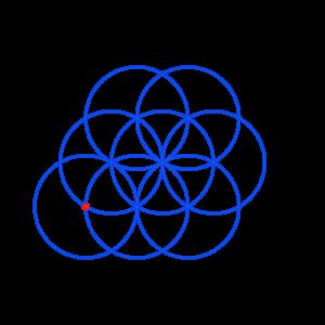 Anleitung: Blume des Lebens zeichnen Kreis 8