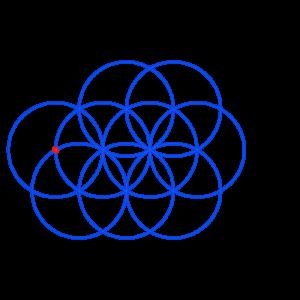 Anleitung: Blume des Lebens zeichnen Kreis 9