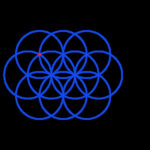 Anleitung: Blume des Lebens zeichnen Kreis 10